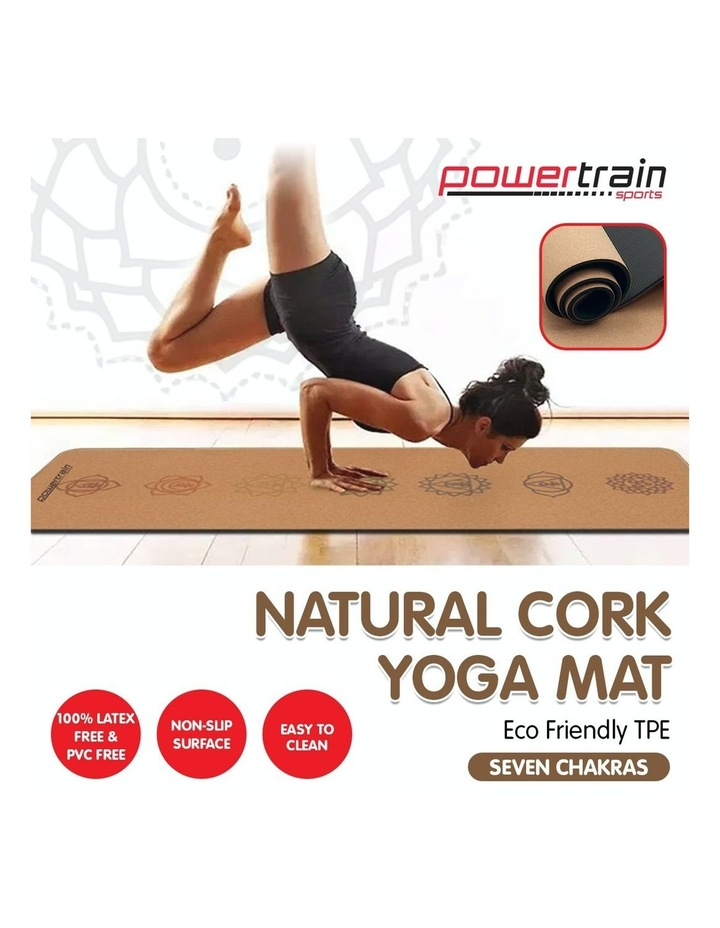 Cork Yoga Exercise Mat Eco Friendly Home Gym Pilates Floor Fitness 6mm Thick image 6