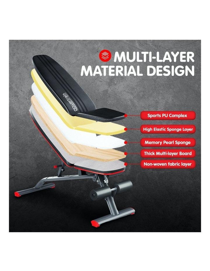 Home Gym Bench Adjustable Flat Incline Decline FID image 3