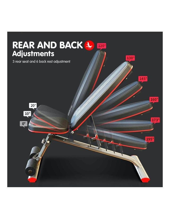 Home Gym Bench Adjustable Flat Incline Decline FID image 6