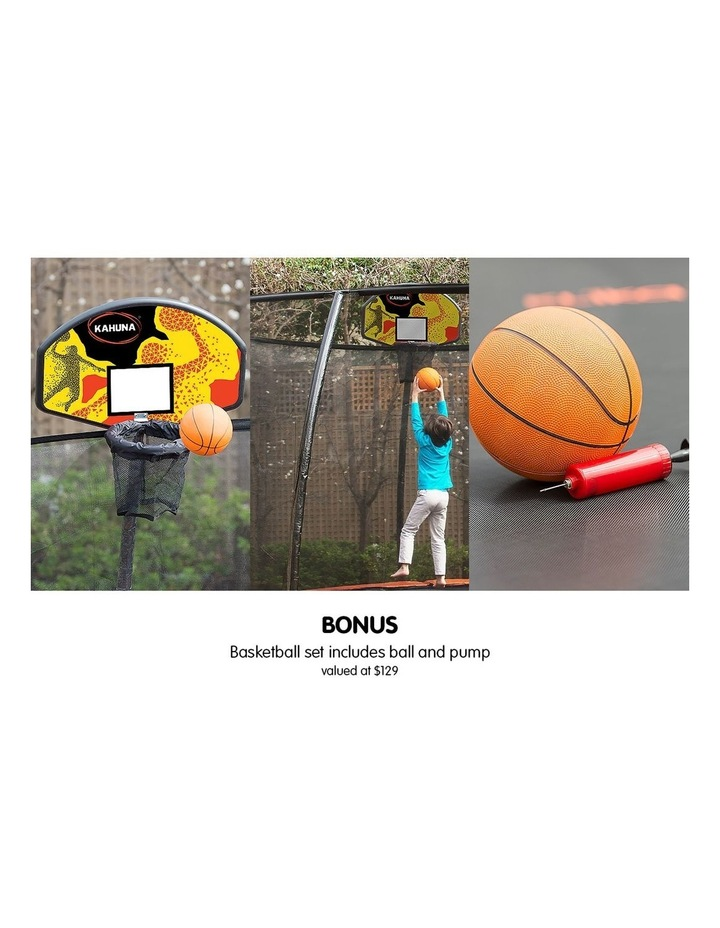 Kahuna 10ft Round Trampoline Safety Net Spring Pad Cover Mat Free Ladder Basketball Set Blue image 2