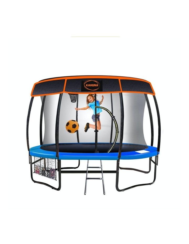 Trampoline 10ft  Free Safety Net Spring Pad Roof Mat Ladder Basketball - Blue image 1