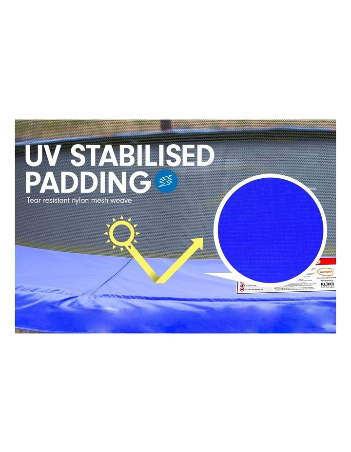 Trampoline 10ft  Free Safety Net Spring Pad Roof Mat Ladder Basketball - Blue image 2
