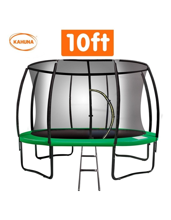 Kahuna 10ft Trampoline Free Ladder Spring Mat Net Safety Pad Cover Round Enclosure Green image 2