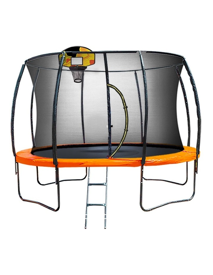 Kahuna 10ft Trampoline Free Safety Net Mat Spring Pad Cover Mat Basketball Orange/Blue image 1