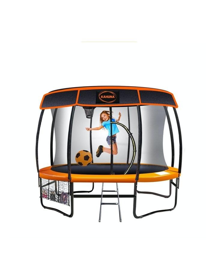 Kahuna 10ft Trampoline Free Safety Net Spring Pad Cover Mat Roof Basketball Set Orange/Blue image 1