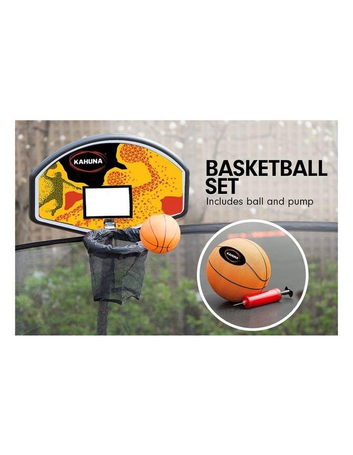 Kahuna 10ft Trampoline Free Safety Net Spring Pad Cover Mat Roof Basketball Set Orange/Blue image 3