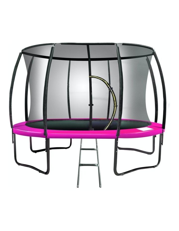Kahuna 10ft Trampoline Outdoor Round Spring Mad Mat Net Ladder Pink image 1