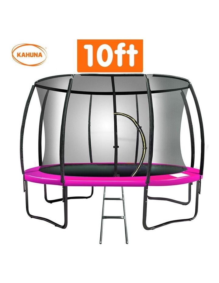 Kahuna 10ft Trampoline Outdoor Round Spring Mad Mat Net Ladder Pink image 2