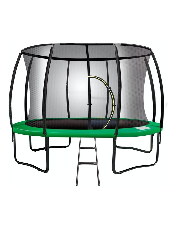 Kahuna 12ftTrampoline Free Ladder Spring Mat Net Safety Pad Cover Round Enclosure Green image 1
