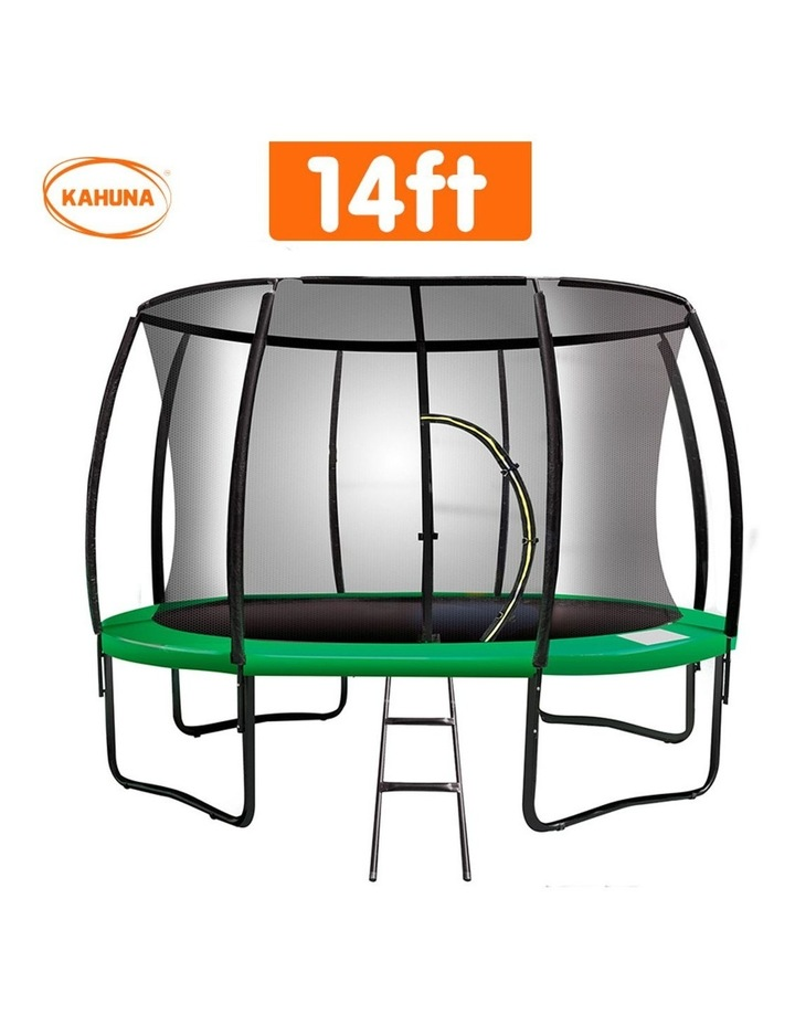 Kahuna 12ftTrampoline Free Ladder Spring Mat Net Safety Pad Cover Round Enclosure Green image 2