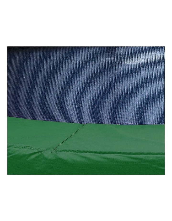 Kahuna 14ft Round Trampoline Spring Safety Net Pad Cover Mat Free Ladder Basketball Set Green image 2