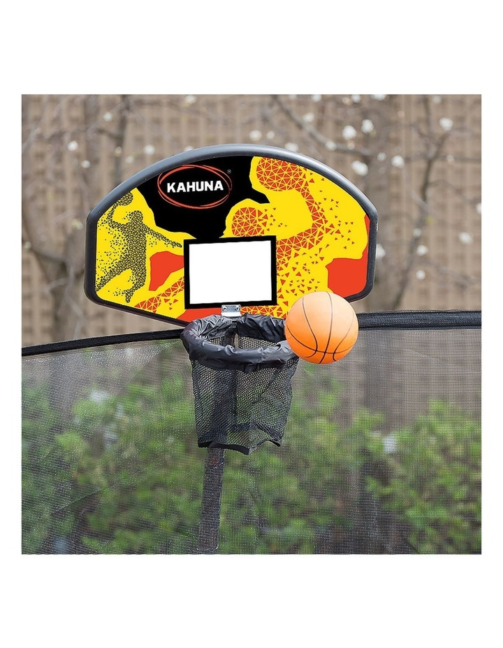 Kahuna 14ft Round Trampoline Spring Safety Net Pad Cover Mat Free Ladder Basketball Set Green image 5
