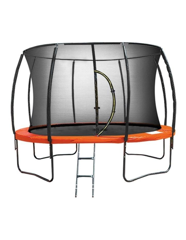 New Kids Gift Kahuna 14ft Trampoline Free Safety Net Spring Pad Mat Orange/Blue image 1