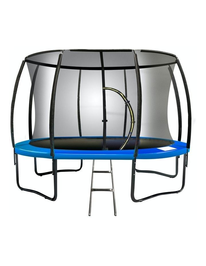 New Kids Gift Kahuna 14ft Trampoline Free Safety Net Spring Pad Mat Orange/Blue image 2