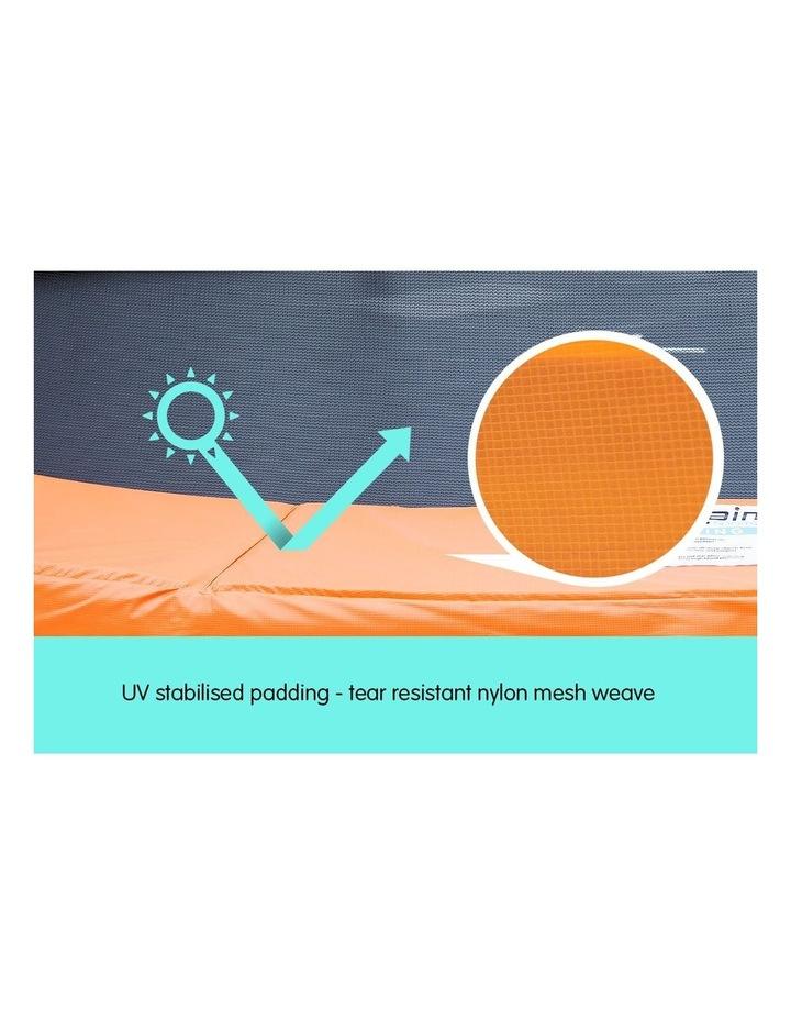 New Kids Gift Kahuna 14ft Trampoline Free Safety Net Spring Pad Mat Orange/Blue image 3