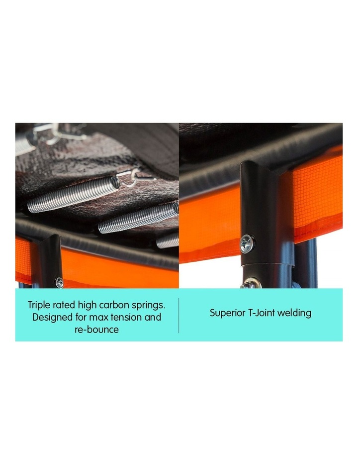 New Kids Gift Kahuna 14ft Trampoline Free Safety Net Spring Pad Mat Orange/Blue image 5