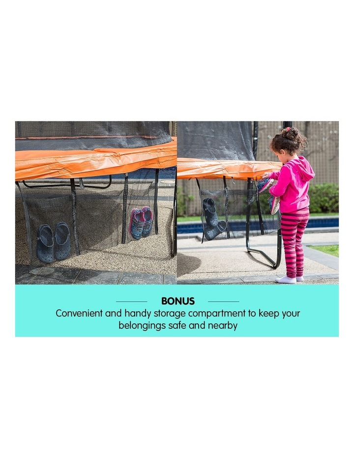 New Kids Gift Kahuna 14ft Trampoline Free Safety Net Spring Pad Mat Orange/Blue image 6