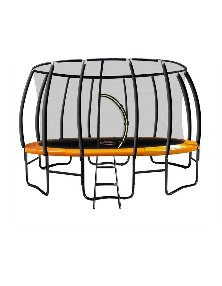New Kahuna Trampoline 14ft with Pad Net Mat Spring Round Enclosure - Orange image 1