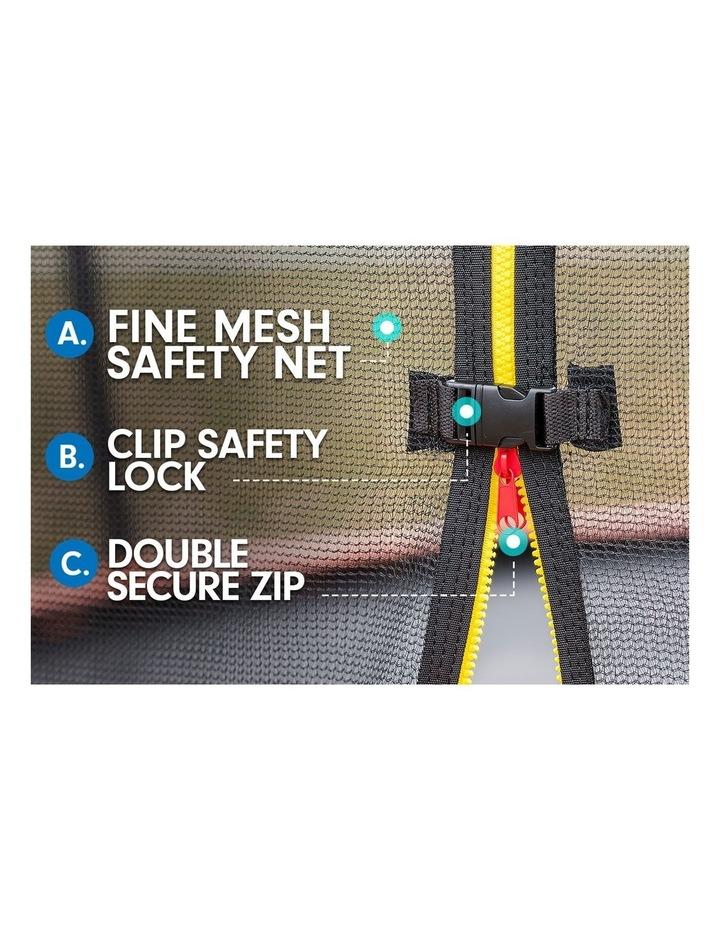 Kahuna 14ft Trampoline Free Safety Net Spring Pad Roof Mat Ladder Basketball - Pink image 6