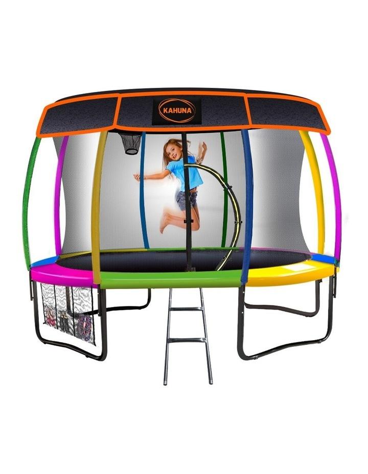 Kahuna 14ft Trampoline Free Safety Net Spring Rainbow Pad Roof Mat Basketball- Rainbow image 1