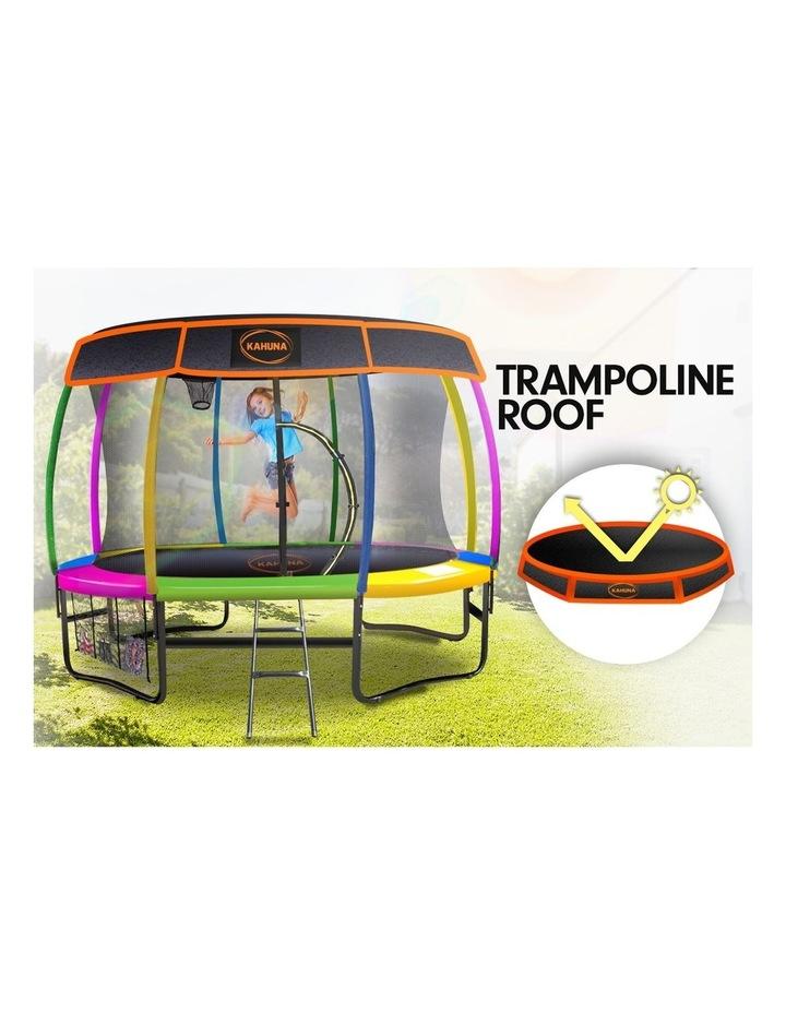 Kahuna 14ft Trampoline Free Safety Net Spring Rainbow Pad Roof Mat Basketball- Rainbow image 2