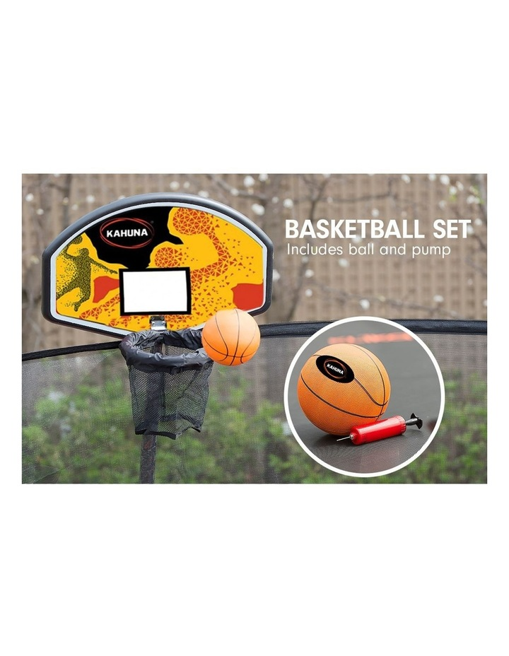 Kahuna 14ft Trampoline Free Safety Net Spring Rainbow Pad Roof Mat Basketball- Rainbow image 3