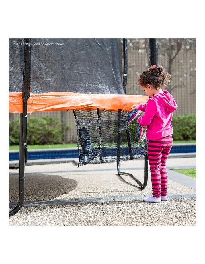 Kahuna 16ft Round Spring Trampoline Free Safety Net Pad Cover Mat Ladder Basketball Orange/Blue image 4