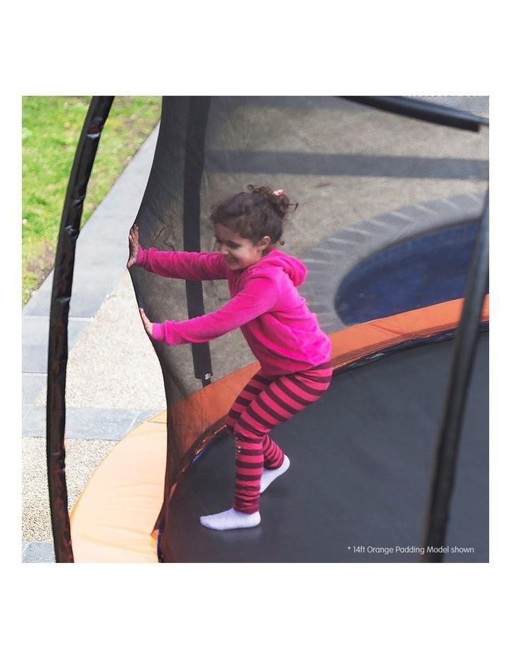 Kahuna 16ft Round Spring Trampoline Free Safety Net Pad Cover Mat Ladder Basketball Orange/Blue image 5