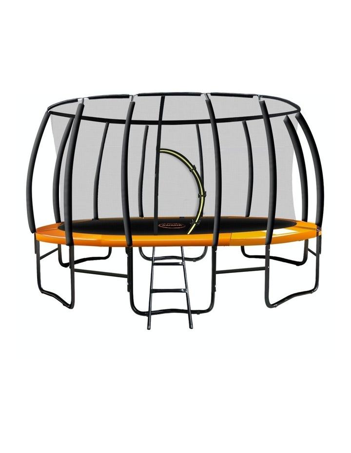 Kahuna 16ft Trampoline Kahuna Jumper Outdoor Round Pad Mat Net Ladder Orange image 1