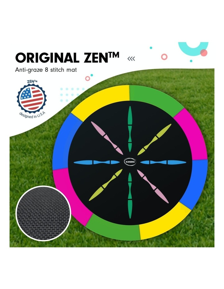 Kahuna 16ft Round Spring Trampoline Free Safety Net Pad Cover Mat Ladder Basketball Set- Rainbow image 3