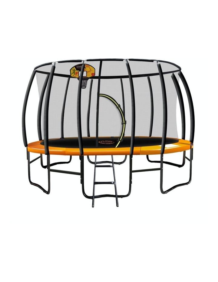 Kahuna Trampoline 12ft with Basketball set - Orange image 1