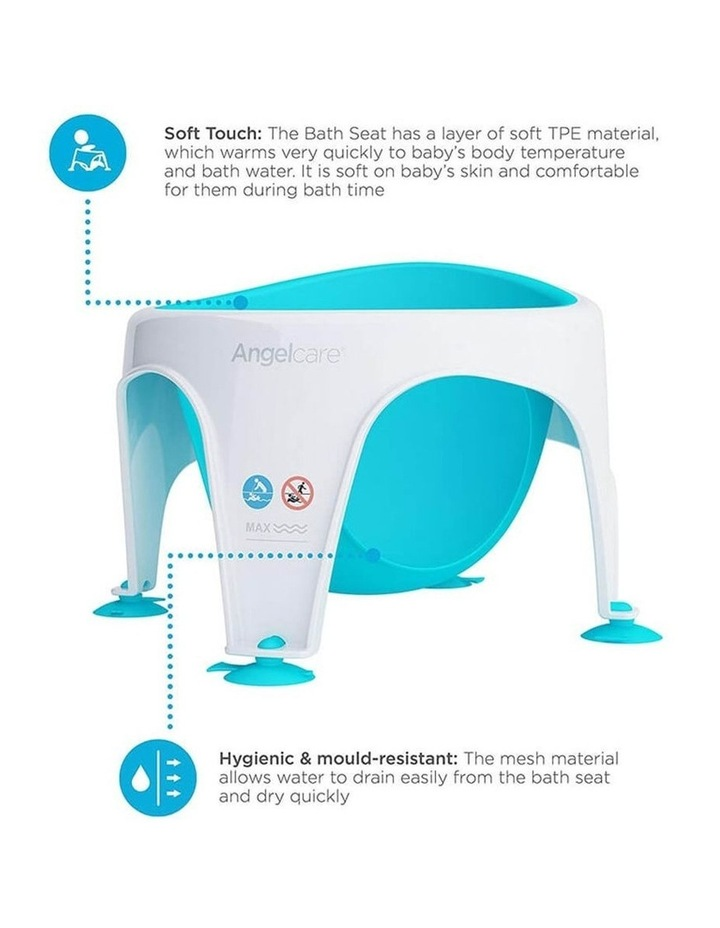 New Angelcare Baby Child Bath Support Soft Touch Ring Shower Mini Seat - Aqua image 3