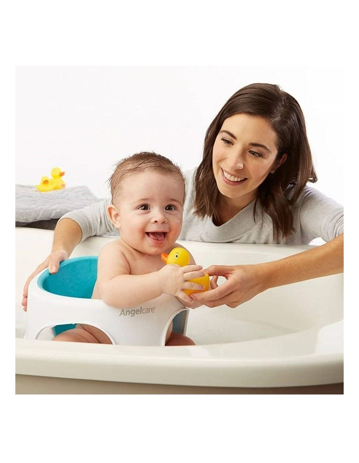 New Angelcare Baby Child Bath Support Soft Touch Ring Shower Mini Seat - Aqua image 4