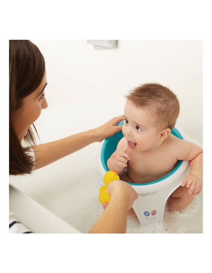 New Angelcare Baby Child Bath Support Soft Touch Ring Shower Mini Seat - Aqua image 5