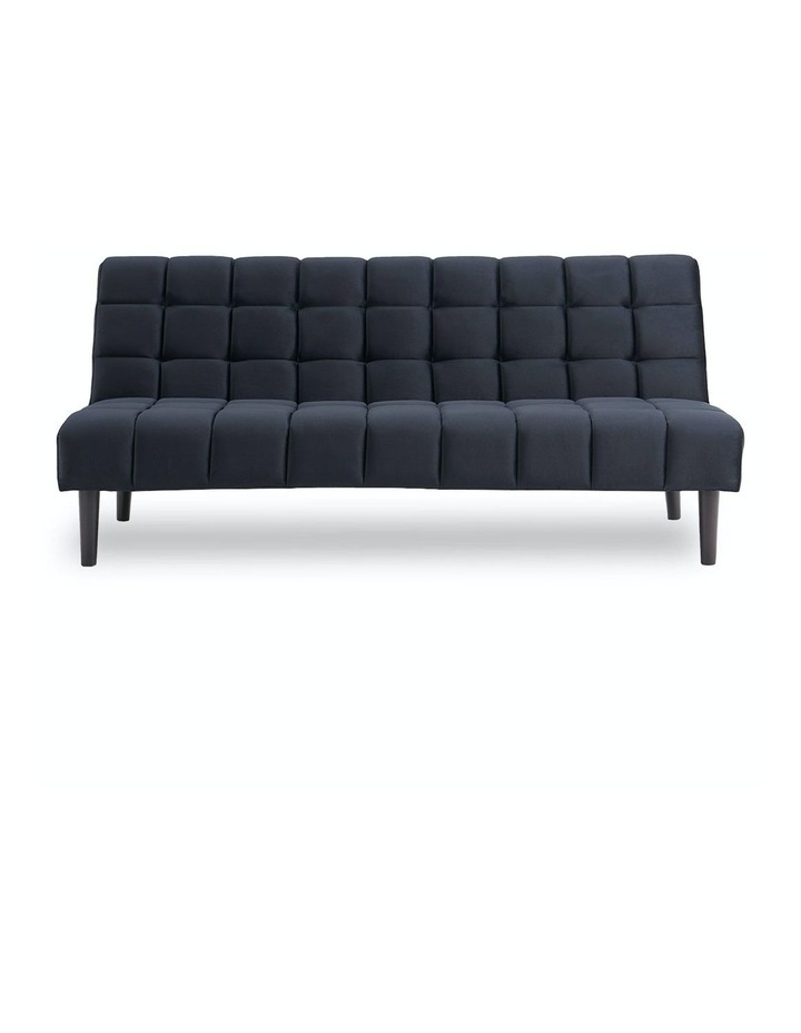 Faux Suede Fabric Sofa Bed Black image 1