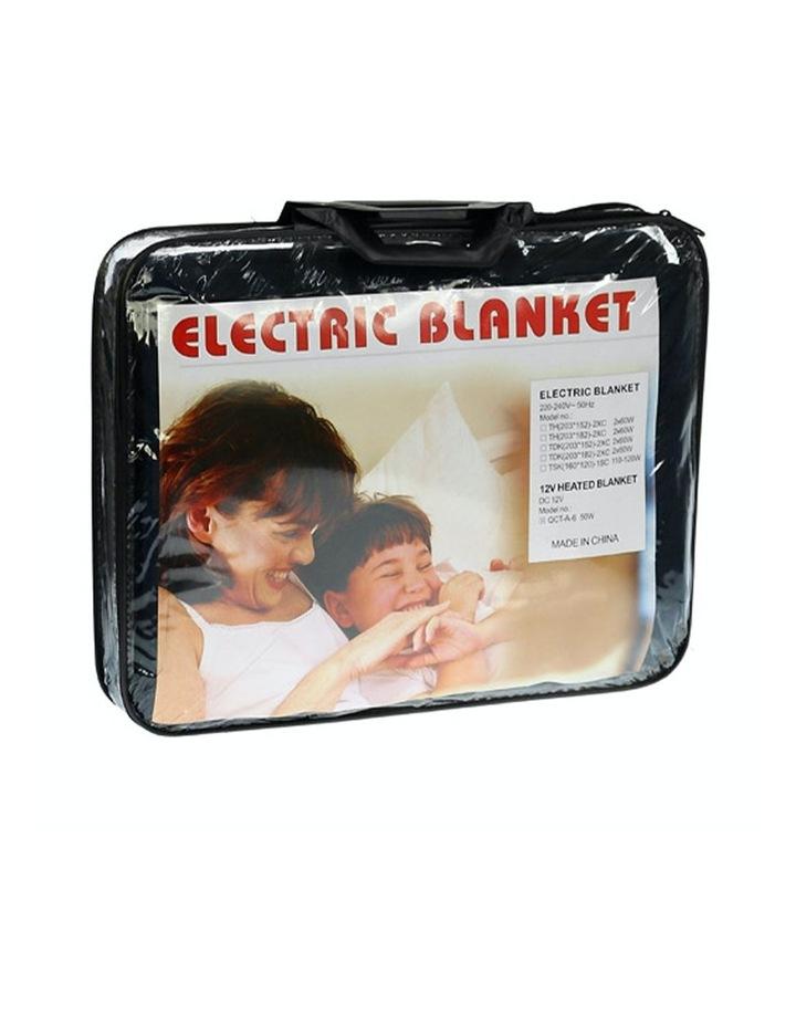 Heated Car Blanket Travel Rug Soft Caravan Fleece Electric Throw 12 Volt Dc Auto Black image 4