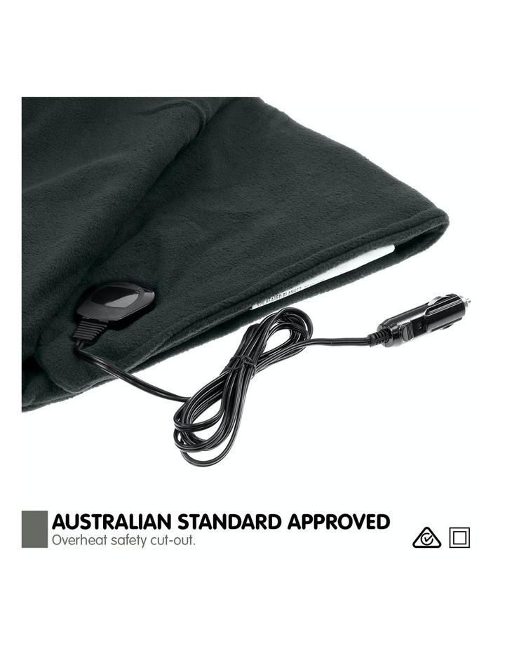 Heated Car Blanket Travel Rug Soft Caravan Fleece Electric Throw 12 Volt Dc Auto Black image 7