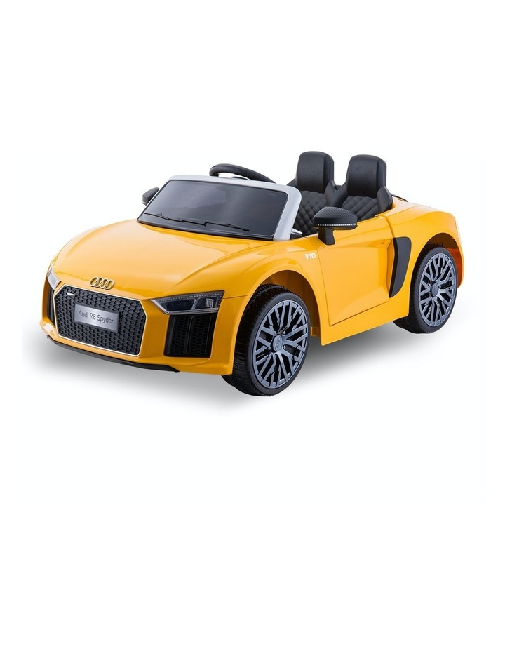 R8 Spyder Audi Kids Electric Ride On Car Yellow image 1