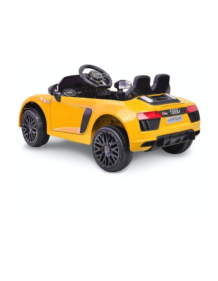 R8 Spyder Audi Kids Electric Ride On Car Yellow image 2