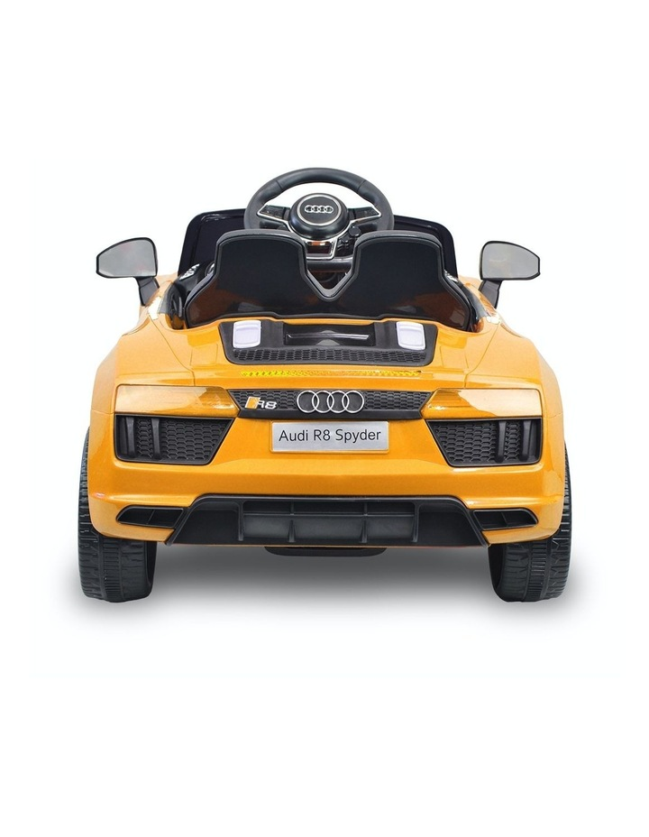 R8 Spyder Audi Kids Electric Ride On Car Yellow image 3