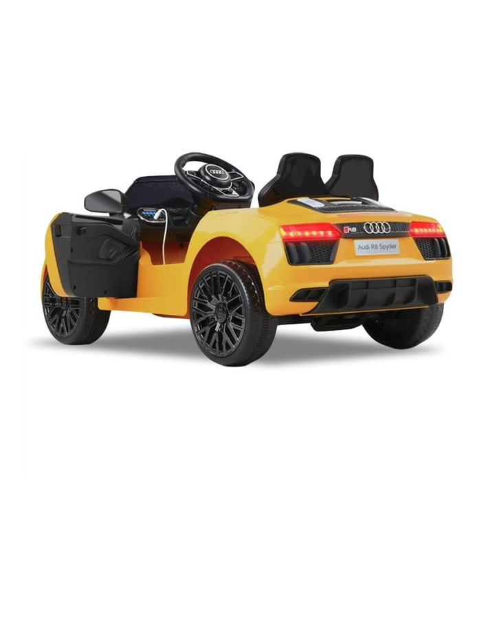 R8 Spyder Audi Kids Electric Ride On Car Yellow image 4