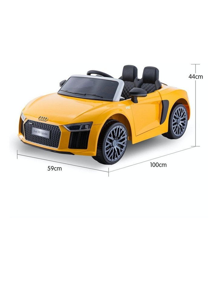 R8 Spyder Audi Kids Electric Ride On Car Yellow image 5