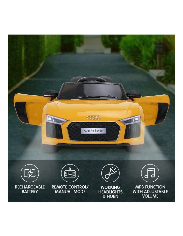 R8 Spyder Audi Kids Electric Ride On Car Yellow image 6