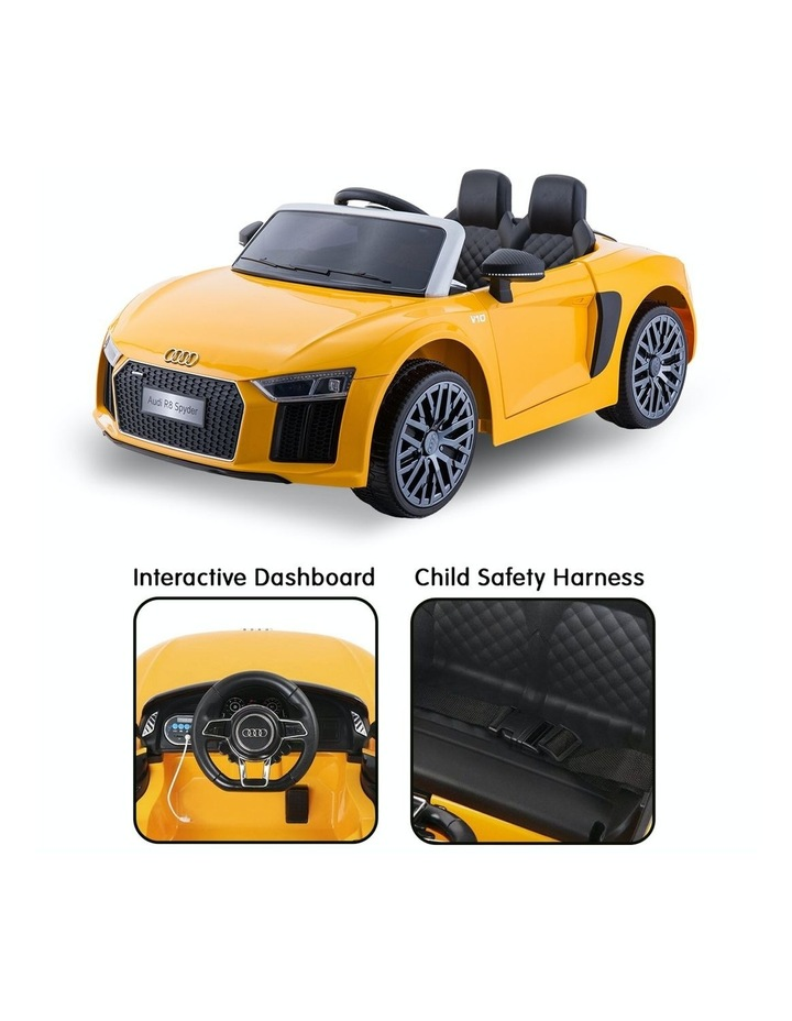 R8 Spyder Audi Kids Electric Ride On Car Yellow image 7