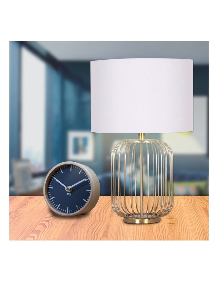 Table Lamp Rose Gold Finish with White Linen Shade image 6