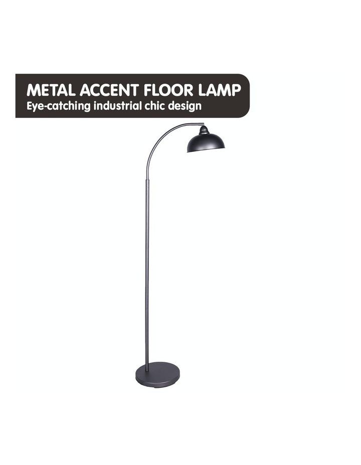 Chic Industrial Adjustable Angle Floor Lamp Dark Grey image 3