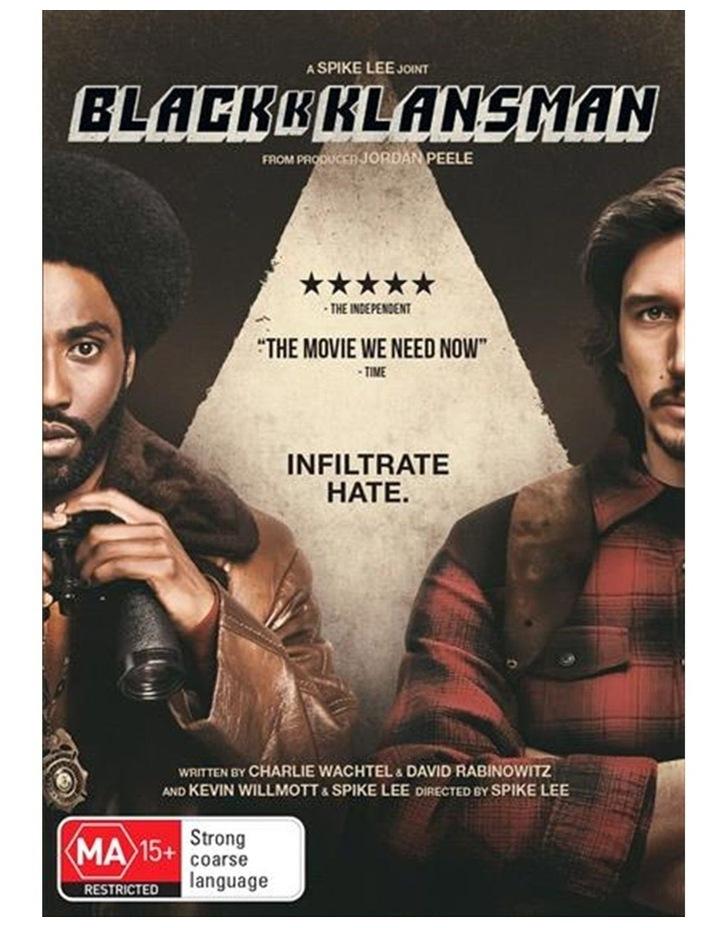 Blackkklansman DVD image 1