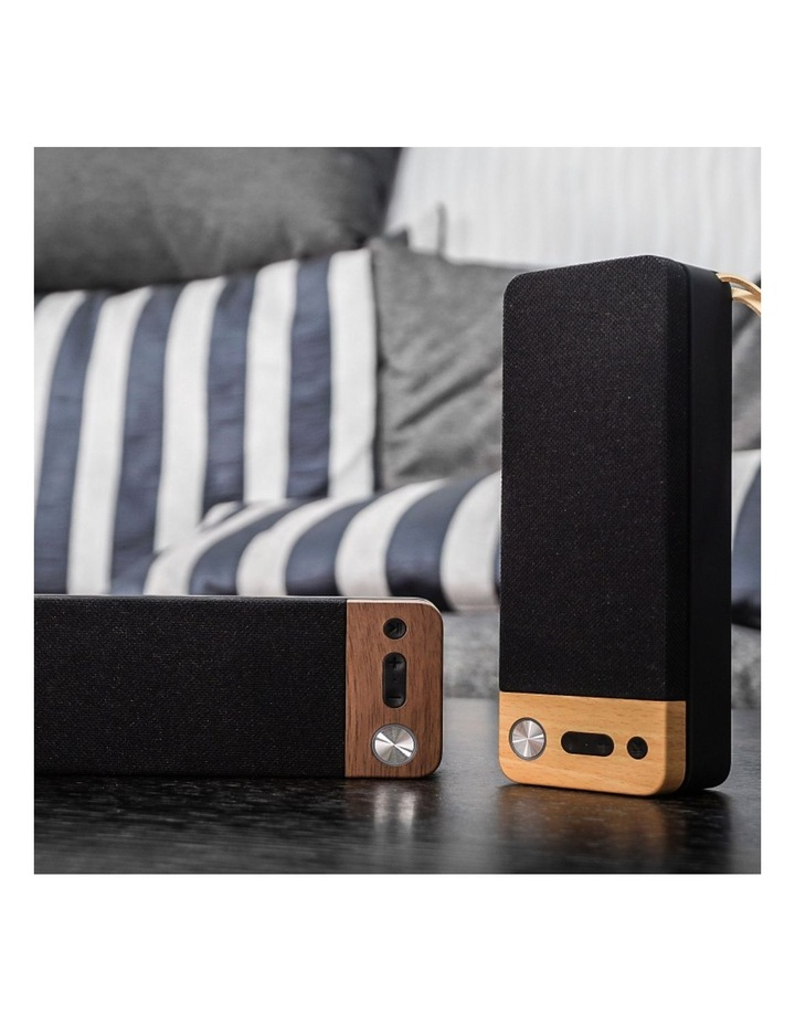 LuxeTech Portable Bluetooth Speaker - Walnut image 4