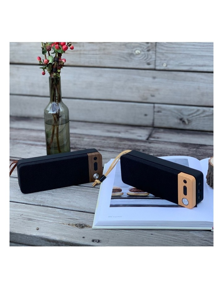 LuxeTech Portable Bluetooth Speaker - Walnut image 5