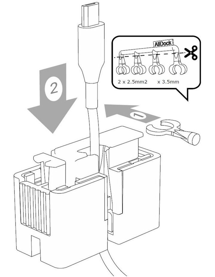 C-Type One Hand Click Docking System Black image 5